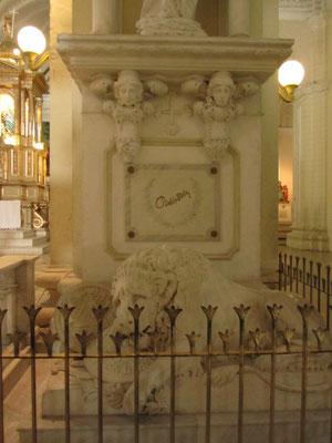Das Grab Ruben Darios in der Kathedrale.