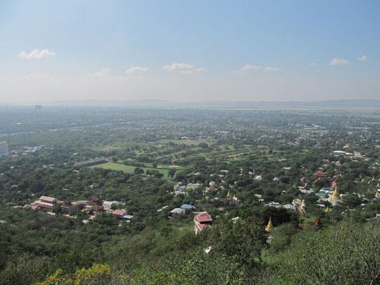 Blick auf Mandalay vom Mandalay Hill.