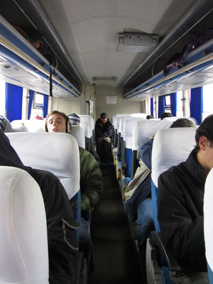 Am Ende de Ganges. Im Bus nach Copacabana.