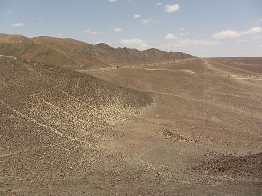 Blick vom Berg auf die umliegenden Linien.
