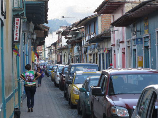 In den Straßen Lojas.
