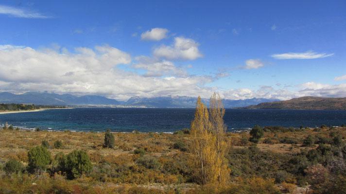 Am Beginn der langen Busfahrt nach Mendoza.