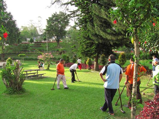 Sportler in Park von Tanah Rata.