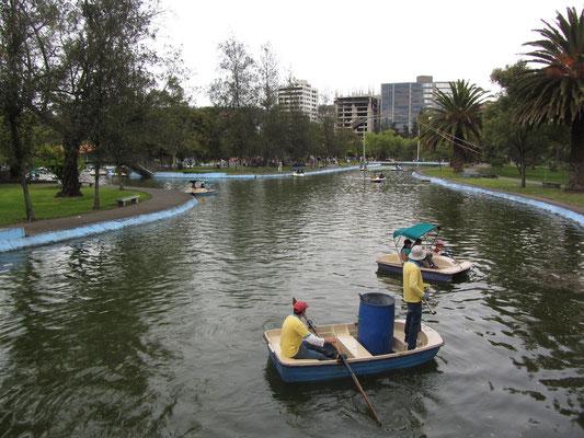 Im Parque La Carolina, dem Park in unserer Nachbarschaft.
