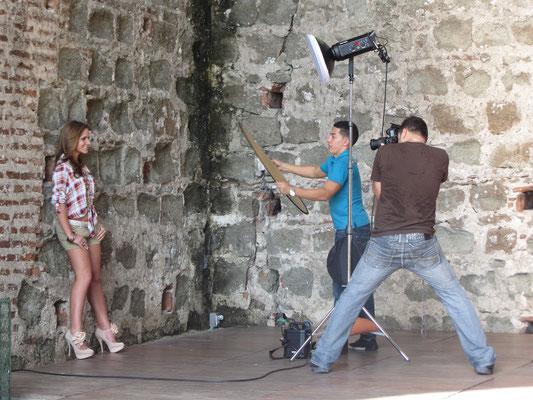 Yes! - Fotoshooting in den Ruinen. (Panama Vieja)