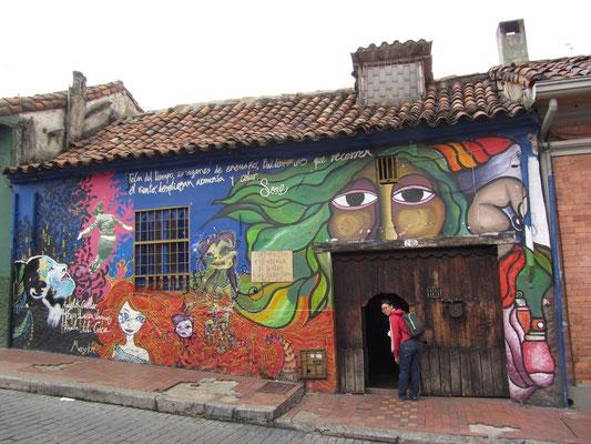 Es gibt auch bunte Flecken in Bogota.