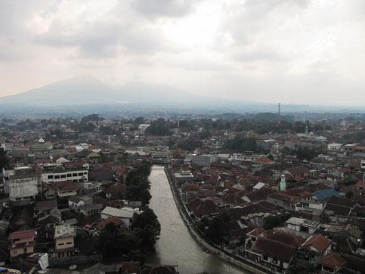 Blick auf Bogor.
