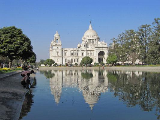 Das Victory Memorial. Wahrzeichen und schönster Kolonialbau Kolkatas.