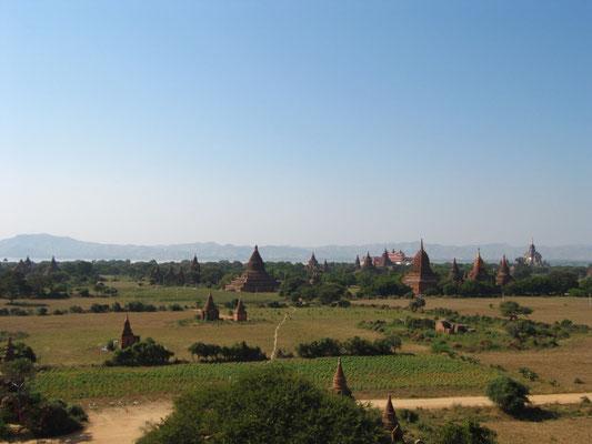 Blick vom Shwe-San-Daw-Tempel.