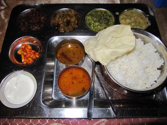 Indisches Thali.
