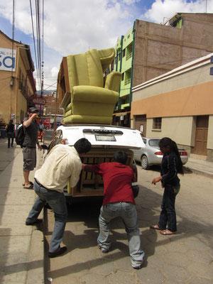 Möbeltransporter.