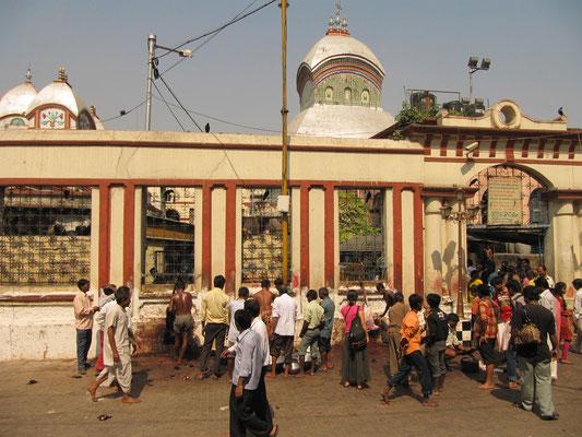 Der berühmt berüchtigte Kali-Tempel. Der heiligste Ort Kolkatas fordert Jahr für Jahr Tote. Chihi fragte sich nicht unberechtigt wie Religion so gewaltsam gelebt werden kann. Hier überleben nur die Stärksten und wer bis zur Glocke kommen will muß kämpfen.