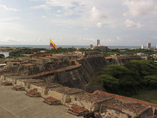 Blick vom Fort auf das schöne Vartagena.