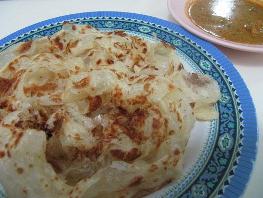 Malaysisches Roti. So indisch, so lecker, aber eher selten im eigentlichen Ursprungsland.