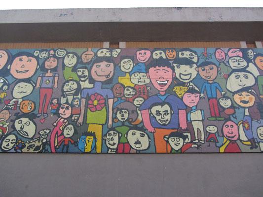 Lustige Wandmalerei.
