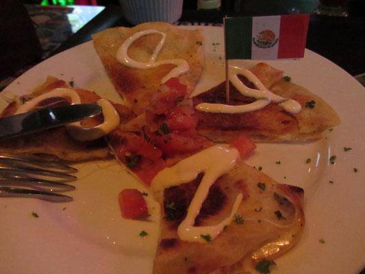 Mexikanisch: Quesadillas.