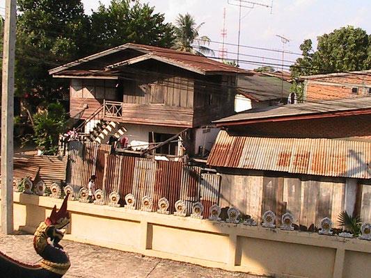 Nachbarschaft des Pha That Luang.