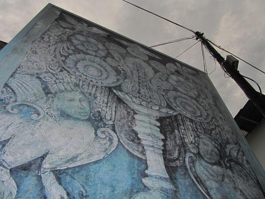 Jalan Diponegoro. Eine Kunstmeile im Herzen Solos mit viel Malerei und Skulpturen am Wegesrand.