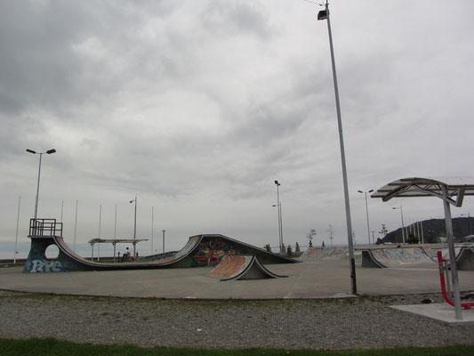 Skatepark in Puerto Montt. Strange Atmosphäre!