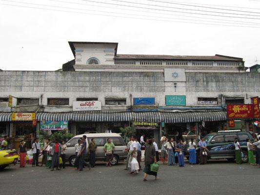 Die Moseah Yeshua Synagoge. Die jüdische Gemeinde in Yangon hat heute noch ungefähr 20 Mitglieder.