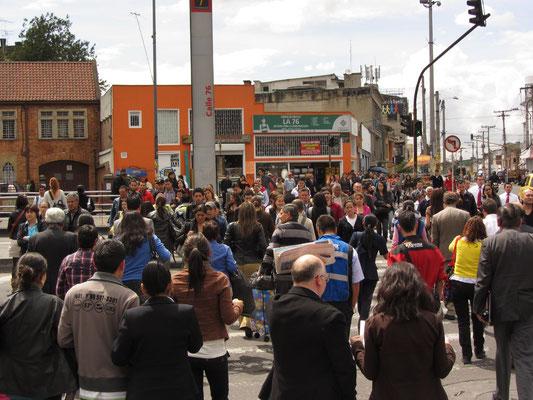 Busy Bogota.