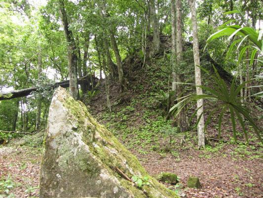 Komplex O. Dieser Berg ist ein überwachsener Tempel.