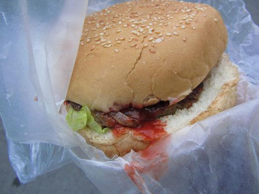 Hamburguesa sin queso.