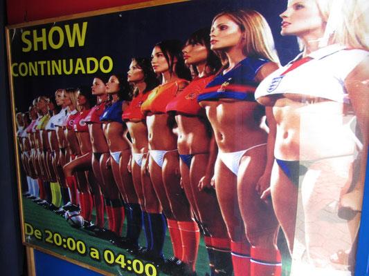 Werbung für die Fußball-WM.