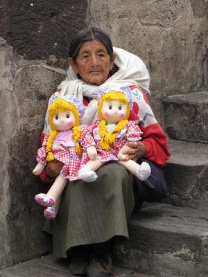 Puppenverkäuferin.