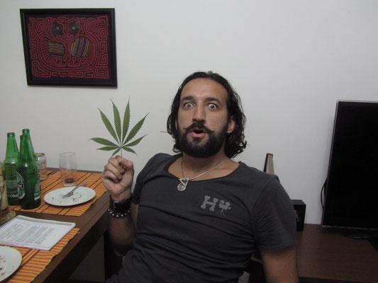 Salvador Dali meets Marihuana leaf.