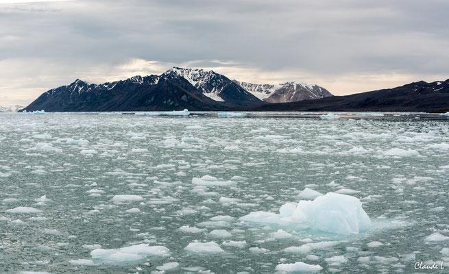 glacier Lillickook, Spitzberg, Svalbard