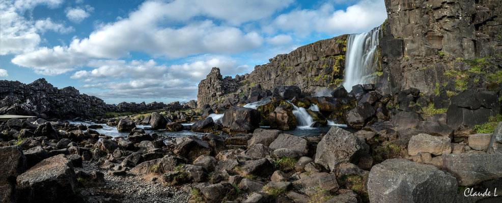 Oxarafoss, Parc national Thingvellir