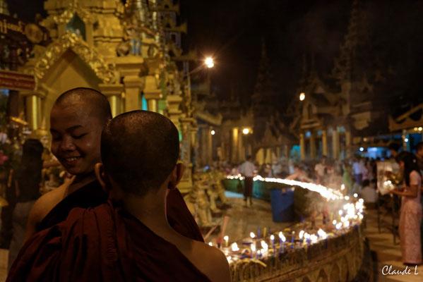 Rangoon,Pagode de Swedagon,La fête des Lumières