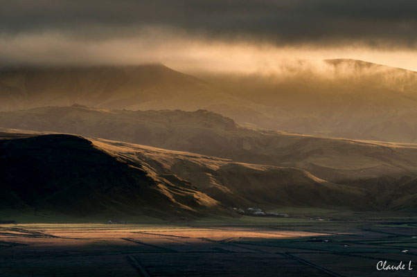 Lever de soleil, Région d'eyjafjöll