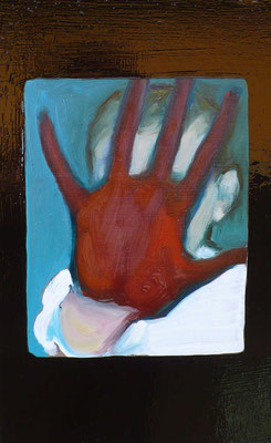 Red Right Hand - 2015, 32x20 cm, oil on wood