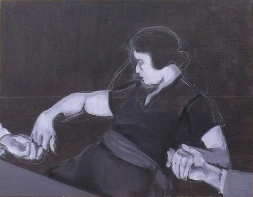 The listener II, 2012 - acrilico su tela, 70x90 cm