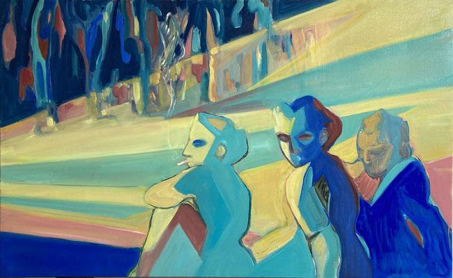 Elena Ricci -2020, oil on canvas, 85 x 120 cm