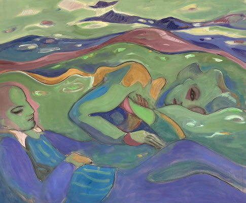 Elena Ricci -landscape - 2021, oil on canvas, 95 x 110 cm