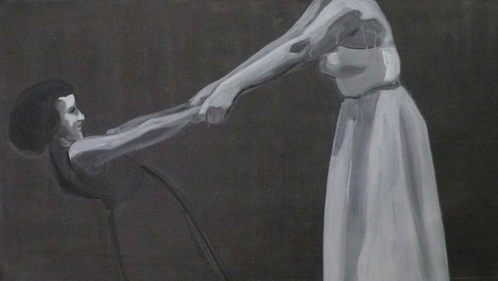 Catch, 2012 - acrilico su tela, 60x110 cm