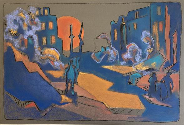 2020, pastel on paper, 65 x 110 cm