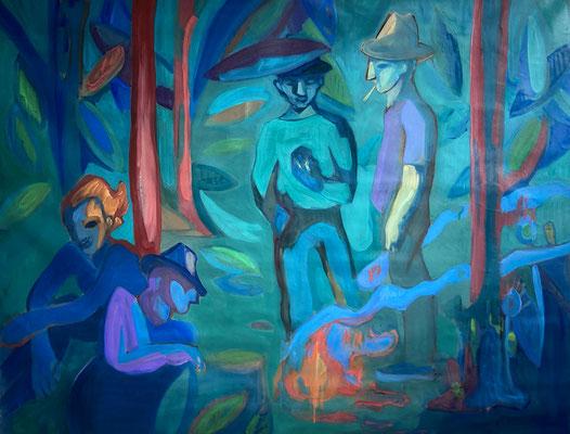 2020, oil on canvas, 100 x 130 cm