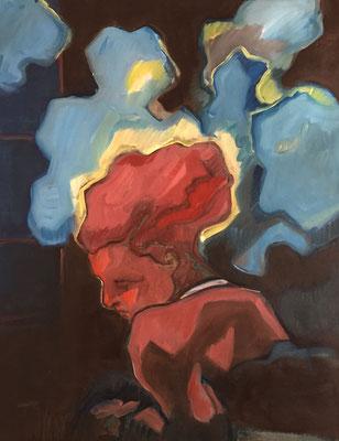 nightfall - 2018 - oil on canvas, 80 x 60 cm