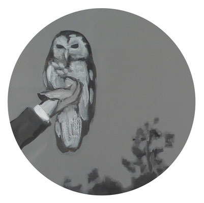 Verso sera, 2012 - acrilico su tela, diam. 60 cm