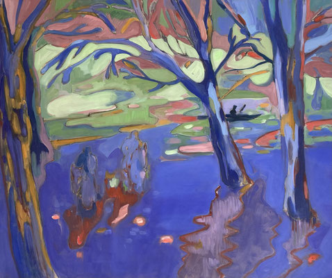 Elena Ricci -wade - 2021, oil on canvas, 90 x 110 cm