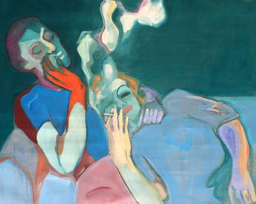 smoke - 2019 – oil on canvas, 60 x 90 cm
