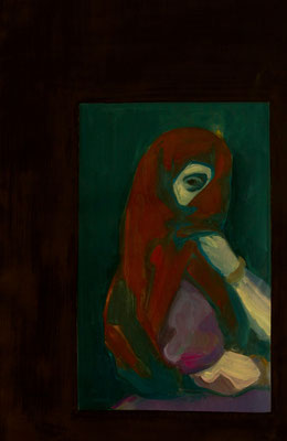 Peephole - 2014, 85x55 cm, oil on canvas