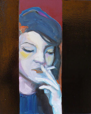 Midnight - 2015, 33x27 cm, oil on wood