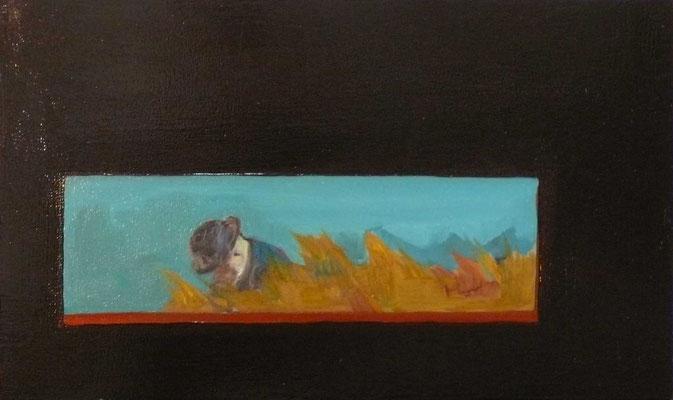 Wheat - 2015, 27x45 cm, oil on wood