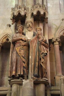 Stifterfiguren im Naumburger Dom. Uta und ihr Mann Ekekhard, Markgraf von Meißen