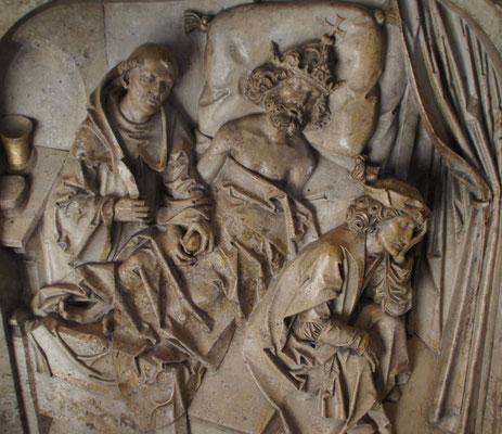 Der kränkelnde Heinrich wird durch den heiligen Benedikt von einem Blasenstein  befreit